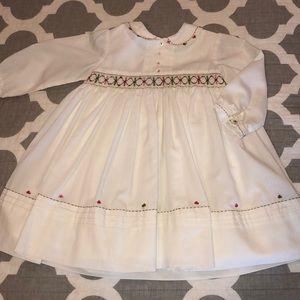 ed2dc6bba Sarah Louise · Long sleeve baby girl smocked dress
